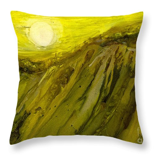 Alcohol Inks Throw Pillow featuring the painting Ai-8 by Francine Dufour Jones