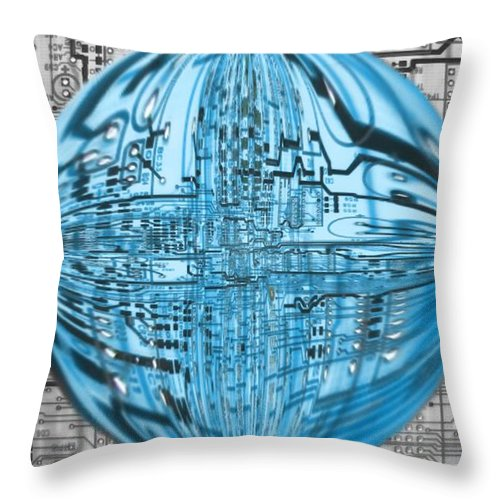 Transcendence Throw Pillow featuring the digital art AI by Dan Sproul