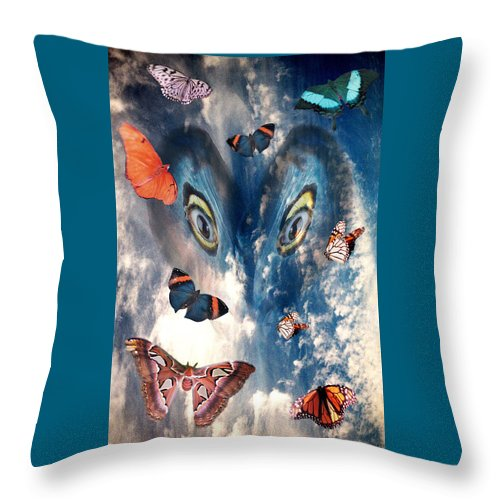 Air Throw Pillow featuring the digital art Air by Lisa Yount