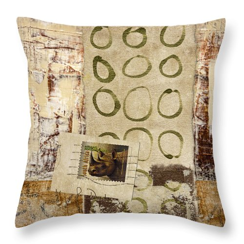Collage Throw Pillow featuring the photograph Air Mail South Africa by Carol Leigh