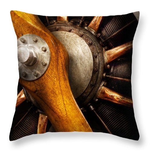 Propeller Throw Pillow featuring the photograph Air - Pilot - You Got Props by Mike Savad
