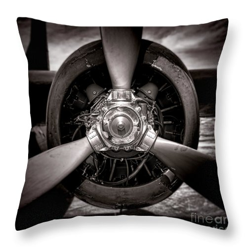 Propeller Throw Pillow featuring the photograph Air Power by Olivier Le Queinec