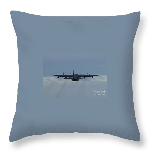 Aircraft Throw Pillow featuring the photograph Airborne by Rick Monyahan