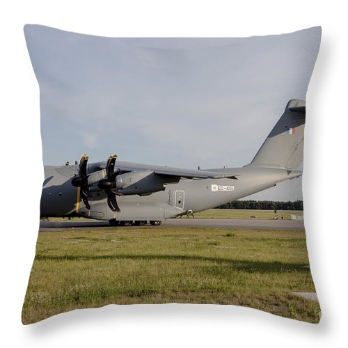 Berlin Throw Pillow featuring the photograph Airbus A400m For The French Air Force by Timm Ziegenthaler