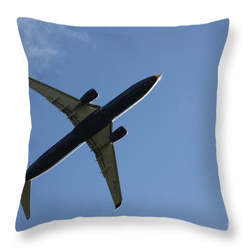 Airplane Throw Pillow featuring the photograph Airplane II by Four Hands Art