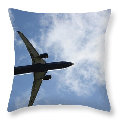 Airplane Throw Pillow featuring the photograph Airplane IIi by Four Hands Art