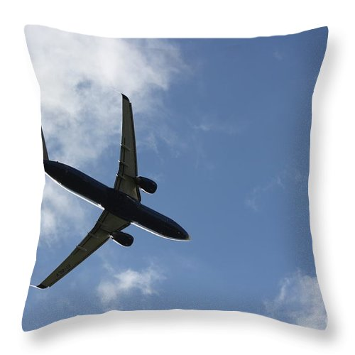 Airplane Throw Pillow featuring the photograph Airplane Iv by Four Hands Art