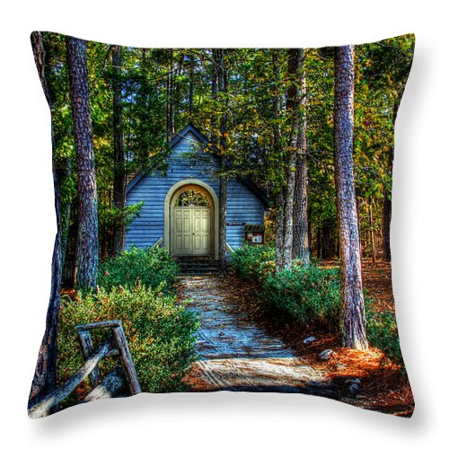 Hdr Throw Pillow featuring the photograph Ajsp Chapel by Andy Lawless