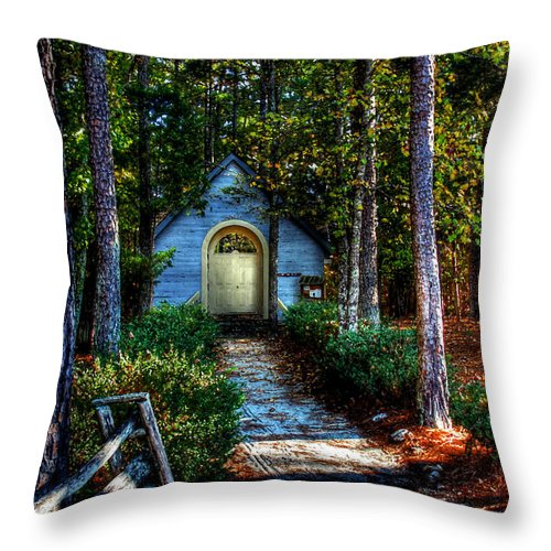 Hdr Throw Pillow featuring the photograph Ajsp Chapel Dry Brush by Andy Lawless