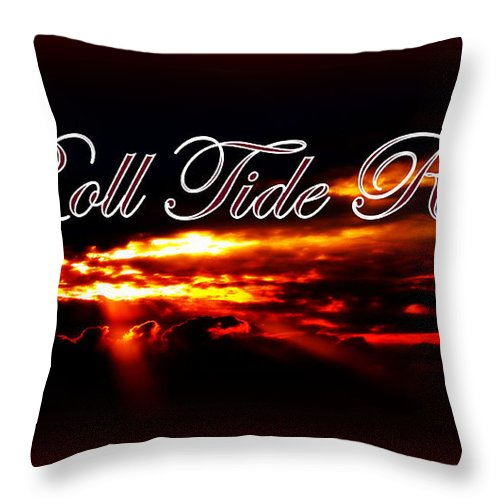 Alabama - Roll Tide Throw Pillow featuring the photograph Alabama - Roll Tide by Travis Truelove