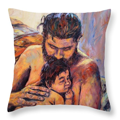 Kendall Kessler Throw Pillow featuring the painting Alan And Clyde by Kendall Kessler