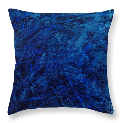 Abstract Throw Pillow featuring the painting Alans Call by Dean Triolo