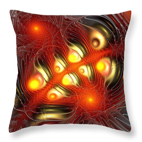 Malakhova Throw Pillow featuring the digital art Alchemy by Anastasiya Malakhova