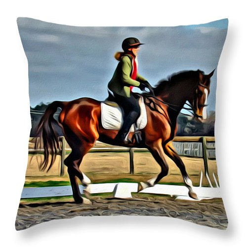 Horse Throw Pillow featuring the photograph Alice And Oliver by Alice Gipson