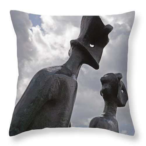 Statue Throw Pillow featuring the photograph Alienation by Stephen Barrie