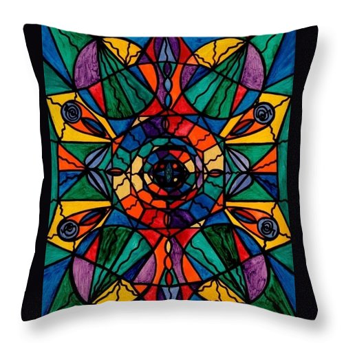 Alignment Throw Pillow featuring the painting Alignment by Teal Eye Print Store