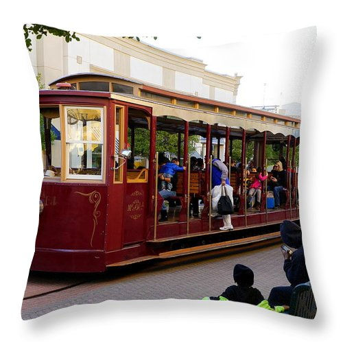 Shreveport Throw Pillow featuring the photograph All Aboard by Darrell Clakley