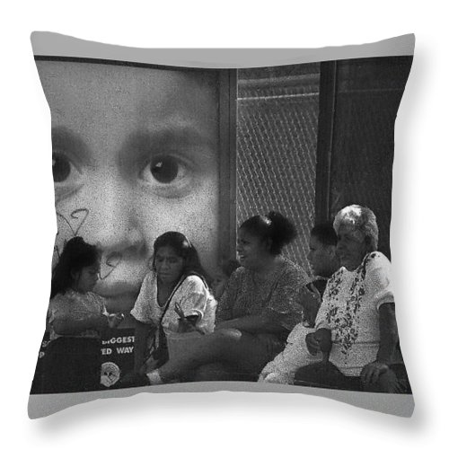 Family Throw Pillow featuring the photograph All Eyez On Thee by Leon Hollins III
