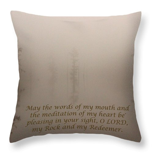 Psalm Throw Pillow featuring the photograph All Is Calm by Karen Beasley