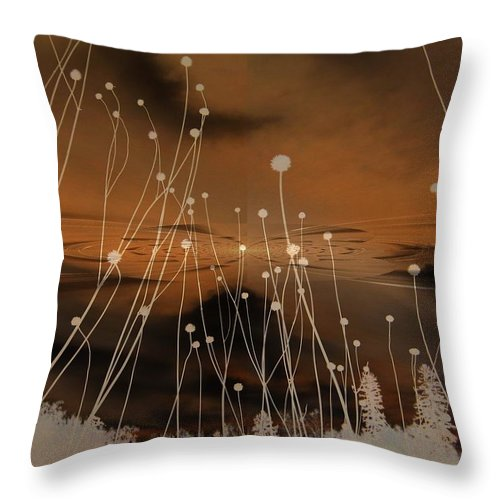 Surreal Throw Pillow featuring the photograph All Is Quiet by Shirley Sirois