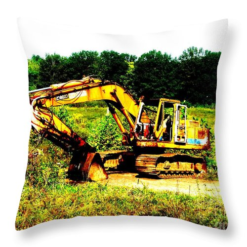 Dozer Throw Pillow featuring the photograph All Ready For Duty IIi by Kip DeVore