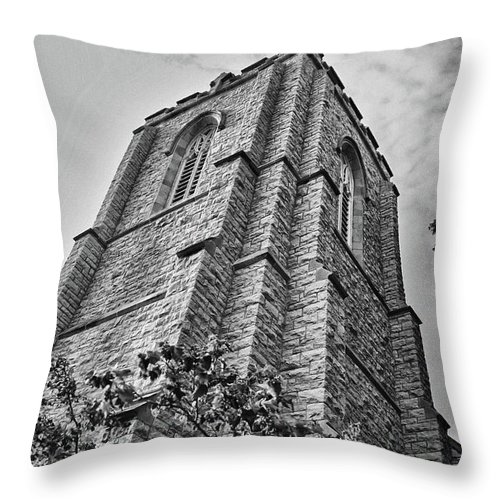 Buildings Throw Pillow featuring the photograph All Saints 8353 by Guy Whiteley
