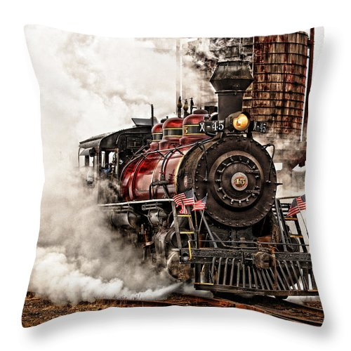 Steam Throw Pillow featuring the photograph All Steamed Up by Mary Jo Allen