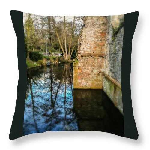 Aschaffenburg Throw Pillow featuring the photograph All That Remains by Jon Woodhams