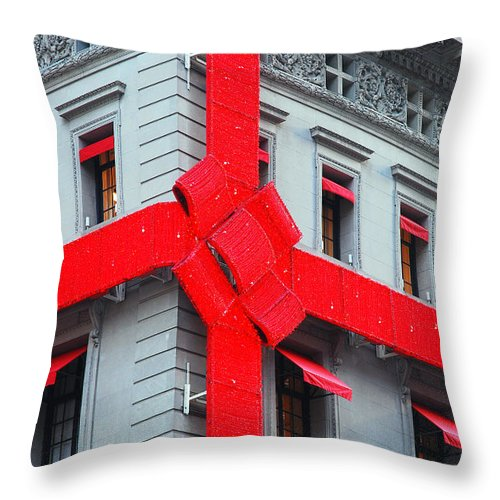 Christmas Throw Pillow featuring the photograph All Wrapped Up For You by James Kirkikis