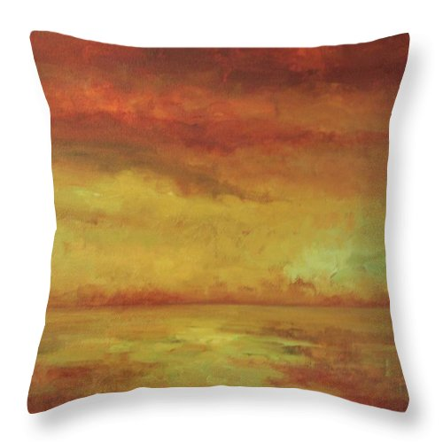 Ocean Throw Pillow featuring the painting Allegro by Mary Wolf