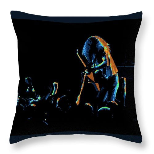 Lynyrd Skynyrd Throw Pillow featuring the photograph A C In Spokane 1 by Ben Upham