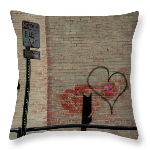 Love Throw Pillow featuring the photograph Allyway Theater by Ric Bascobert
