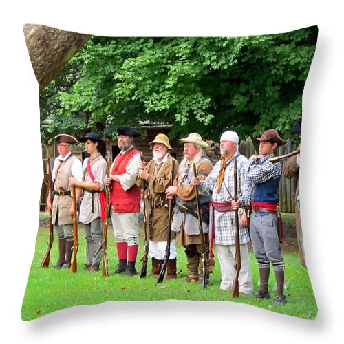 Reenacting Throw Pillow featuring the photograph Almost All by Cynthia Clark