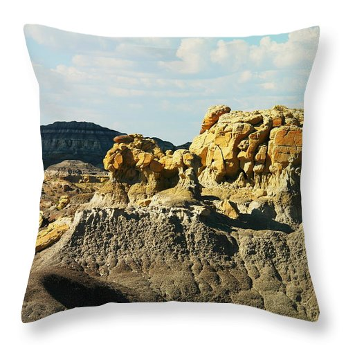 Red Rock Throw Pillow featuring the photograph Almost Moonscape by Jeff Swan