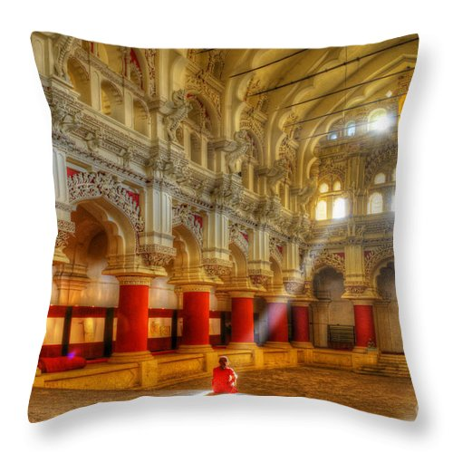 One Throw Pillow featuring the photograph Alone by Colin Woods