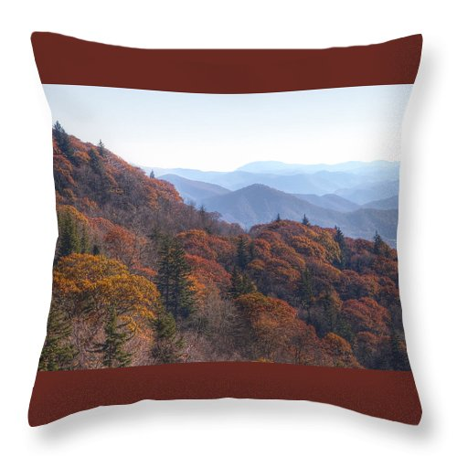 Fall Throw Pillow featuring the photograph Along The Blue Ridge Parkway N C by Cheryl Birkhead