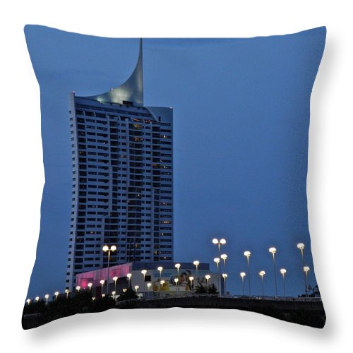 Vienna Throw Pillow featuring the photograph Along the Danube in Vienna by Kirsten Giving