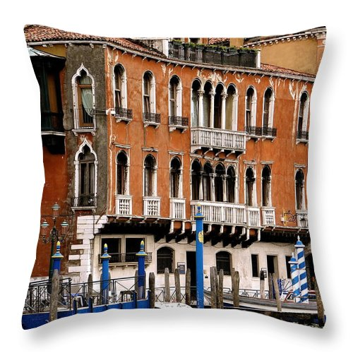 Venice Throw Pillow featuring the photograph Along The Grand Canal by Ira Shander