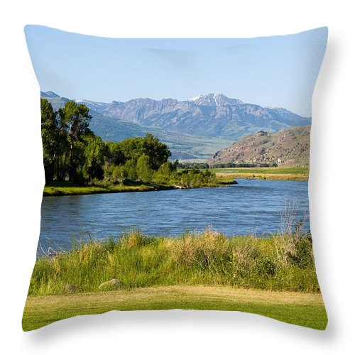 Gardiner Throw Pillow featuring the photograph Along Yellowstone by Tara Lynn