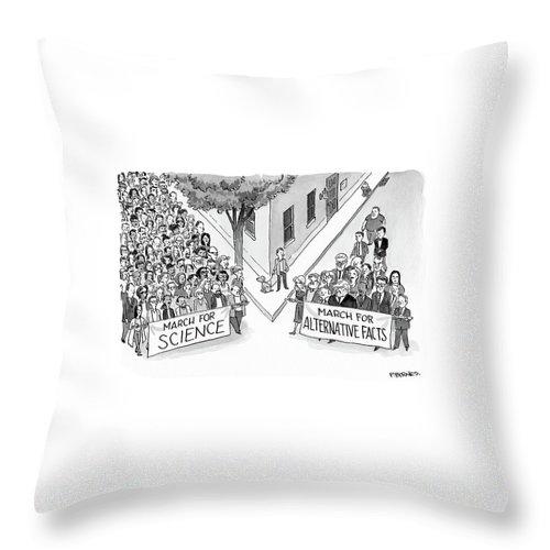 Alternative Marches Throw Pillow