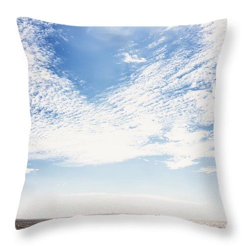 Photography Throw Pillow featuring the photograph Altocumulus At Sea by Jan Brons