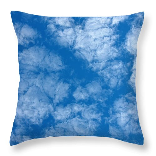 Weather Throw Pillow featuring the photograph Altocumulus Cloud. by Jan Brons