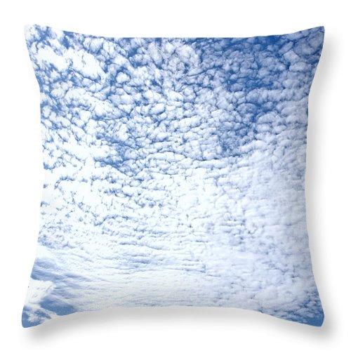 Photography Throw Pillow featuring the photograph Altocumulus Stratiformis Perlucidus Cloud by Jan Brons