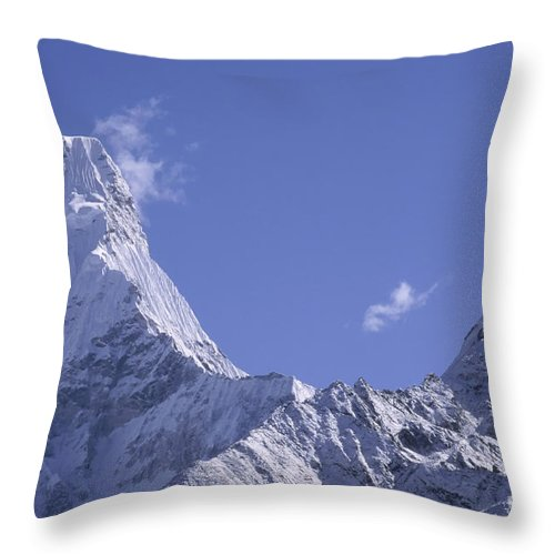 Prott Throw Pillow featuring the photograph Ama Dablam Nepal by Rudi Prott