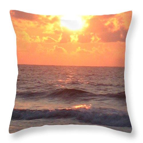 Amazing Golden Lavender South Carolina Sunrise Throw Pillow featuring the photograph Amazing Golden Lavender South Carolina Sunrise by Paddy Shaffer