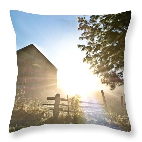Throw Pillow featuring the photograph Amazing Morning by Cheryl Baxter