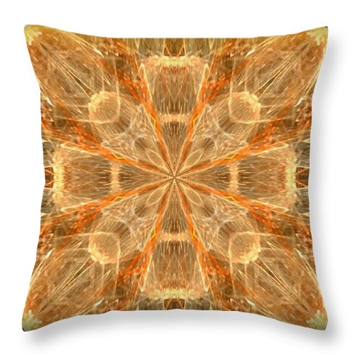 Amber Fractal Throw Pillow featuring the photograph Amber Fractal by Maria Urso