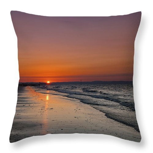 Landscape Throw Pillow featuring the photograph Amber Light by Jean-Noel Nicolas