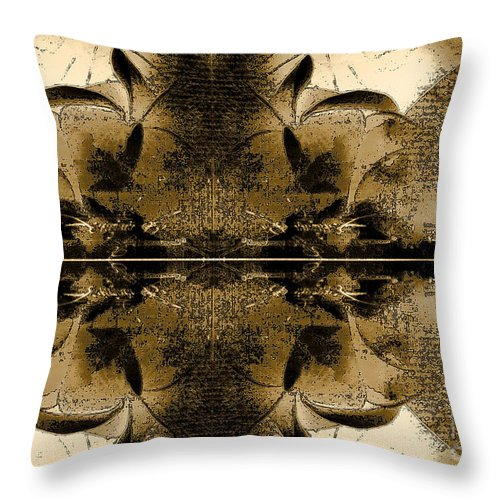 Throw Pillow featuring the mixed media Ambiere by Yanni Theodorou