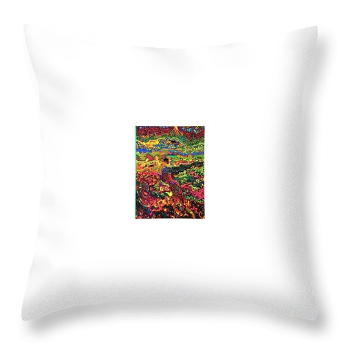 12262012 Throw Pillow featuring the drawing American Abstract by Jonathon Hansen